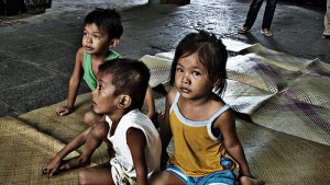 Children living in poverty.